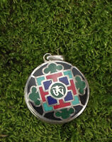 925er Silber Anhänger Amulett Ohm Onyx Türkis Koralle Nepal Tibet