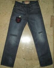 Authentic Polo Ralph Lauren Anchor Embroidered Stonewashed Denim Jeans W30 L32
