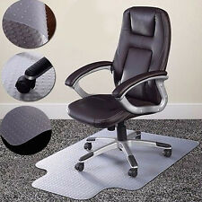 "Hot 36""x48""Chair PVC Floor Mat Home Office Studded Back with Lip for Pile Carpet"