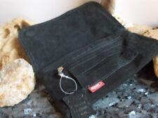 Tabakbeutel Tabaktasche Echt Wildleder Marken Qualität Farbe schwarz