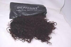 "Beauart 12"" Short Deep Small Curly 100% Brazilian Remy Human Hair Wigs"