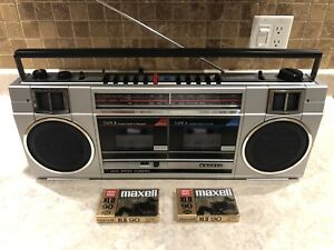 Vintage Sanyo MW-200 Double Radio Cassette / AM/FM - Boombox - Cleaned & Tested