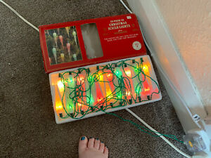 Vintage Woolworths 20 Push-In Christmas Icicle String Lights TESTED & WORK Lot 1