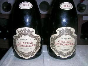 """Château de POMMARD - 1 b. 2003 et 1 b. 2004  -  Belles bouteilles """" anciennes"""" ."""