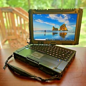 RUGGED 2-IN-1 TOUCH SCREEN GETAC V200 G2 CORE i7-3520M BACKLIT LIKE TOUGHBOOK