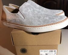 UGG ADLEY PERF 1019611 STARDUST/ SLIVER WOMAN'S SHOES SZ 10 SLIP ON* EXCLUSIVE