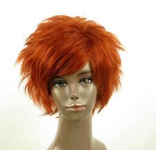 perruque afro femme 100% cheveux naturel courte cuivré intense ref LAET 07/130