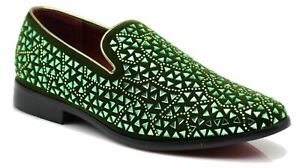Men Vintage Glitter Stage Dress Shoes Tuxedos Loafers Slip On Classic SpK4.5.12