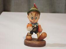 "Anri Disney Vintage Wood 4"" Schoolboy Pinocchio with Books Apple #820"