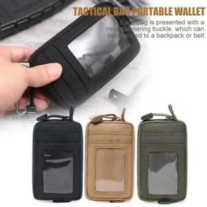 Tactical Card Bag Wallet EDC Molle Pouch Waterproof Key Holder Money Case Pack