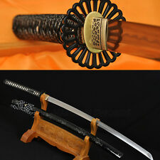 CLAY TEMPERED DAMASCUS STEEL BLADE 8192 LAYERS JAPANESE SAMURAI SWORD KATANA