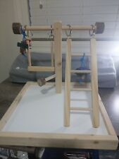 New Bird Table Top Play Stand 14L x 14W x 13H.Comes with Ladder, Swing, and Toys