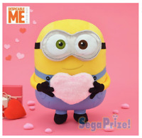 Minion maid Bob mega jumbo Heart Plush Stuffed toy Doll SEGA 2018 from JAPAN