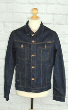 SUPERDRY - Men's Vintage  Copper Black Label Dark Blue Denim Jacket-Large 40""