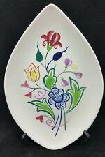 Cerámica Poole pescado en forma de plato millones de patrón de forma, no 91 Blanco Con patrón floral