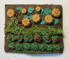 Vegetable plot with pumpkins - O Gauge - 1:43 scale - Painted and planted
