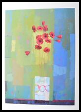 Kirsty wither Pink and lovely lime Poster Picture Art Print in Aluminium Frame 80x60cm