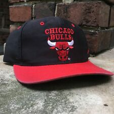VTG 90s Chicago Bull Snapback Hat by AJD Embroidered NBA Basketball OSFM