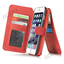 Leather ZIPPER Wallet Card Slots Folio Purse Case Cover for iPhone X XS Max 7 8