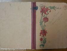 Vecchio quaderno scolastico di scuola d epoca con decoro floreale appunti opere