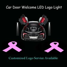 2x Car Door Breast Cancer Pink Ribbon Logo Laser Projector Shadow CREE LED Light