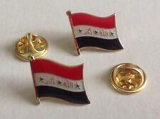 Iraq-Iraqi Falg Small Metal Pin, Saddam Hussein Era.1990's, Lot Of 2.