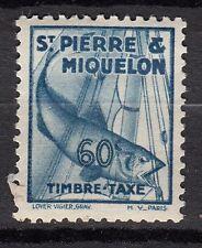 SAINT PIERRE ET MIQUELON TIMBRE COLONIE TAXE  FRANCE NEUF  N° 38 ** MORUE