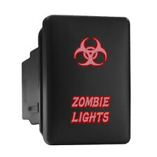Zombie Lights Biohazard Red Short Push Button 128x087 Fit Toyota