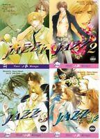 Jazz by Tamotsu Takamure, V.1-4,Complete YAOI Manga Series in English!