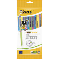 BIC Original Matic Fun 0.7mm Mechanical Pencils - Assorted Colours, 1 Pack of 10