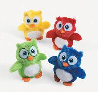 12 Hoot OWLS Plush Stuffed Animals Birthday party favors