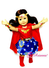 """Arianna WONDER WOMAN 7pcs Costume Fits 18"""" American Girl Doll Clothes"""