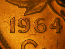 1964 One Cent *** Die Chips Near 9 *** Brilliant and Uncirculated