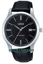 RS969BX-9, LORUS Watch, Date, WR50, Black Dial, Mens