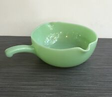 Fire King Jadite / Jade-ite / Jadeite Two Spout Skillet *DOUBLE STAMP*