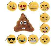 Cute Large Emoji Soft Plush Cushion Keyring Emoticon Keychain Toy Handbag Charm