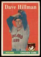 1958 Topps Set Filler Dave Hillman Chicago Cubs #41