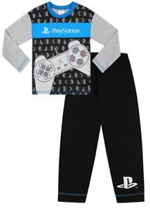 Boys Official Sony PlayStation Gaming Long Pyjamas Grey  Gift Kids Pjs