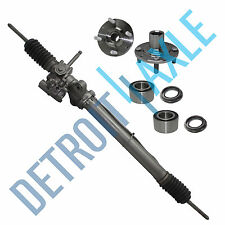 SET Power Steering Rack and Pinion + 2 Wheel Hub Bearing & Assembly - w/o ABS