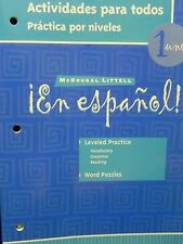 En Espanol! Level 1 Actividades para todos Practica por niveles 2003 Brand New!