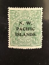 North West Pacific Islands postage stamp King George V halfpenny Mnh