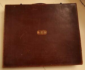 Large Vintage Leather Masonic Regalia Case + Contents / Ephemera as Pictured