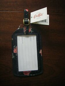 CATH KIDSTON Wimbourne Rose Navy Luggage tag/label TRAVEL  BNWT NEW RRP £8