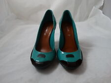 NEW Women's Céline Turquoise and Black Lagoon Pumps, Size 8 (38-39) FREESHIPPING