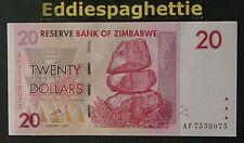 Zimbabwe 20 Dollars 2007 UNC P-68.