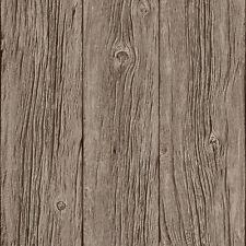 REALISTIC BROWN WOOD PANEL GRAINED MURIVA FEATURE DESIGNER WALLPAPER J02417