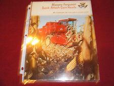 Massey Ferguson Quick Attach Corn Heads Dealer's Brochure 587/469-25-1