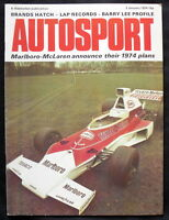 AUTOSPORT MAGAZINE 3 JAN 1974 - BRANDS HATCH, McLAREN ANNOUNCE THEIR 1974 PLANS