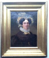 Antique oil painting early 19th century Portrait Lady French school