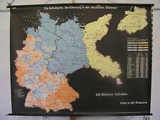 Schulwandkarte Wandkarte Deutschland s Diözesen Katholiken Papst 151x116cm ~1960